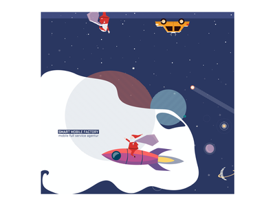 Christmas Card Design planet illustration photoshop christmas card christmas