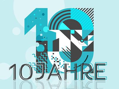 10-Year Anniversary 10 years design adobe xd illustration anniversary
