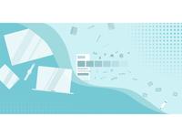 social media company header design