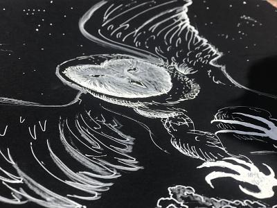 Barn Owl - Summer 2019 animal art draw drawing black white barn owl owl art design illustration