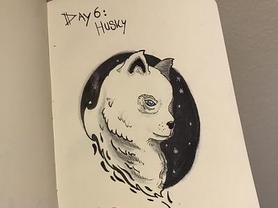 Inktober Day 6: husky ❄️🐕 day6 husky inktober inktober2019 ink