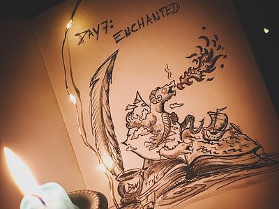 Inktober Day 7: enchanted drawing ink day7 enchanted inktober2019 inktober