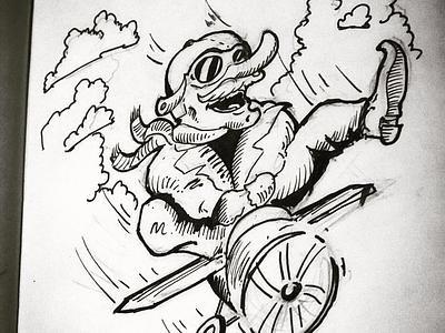 Inktober Day 14: overgrown illustration inktober2019 ink overgrown inktober
