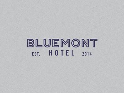 Bluemont Hotel Logotype