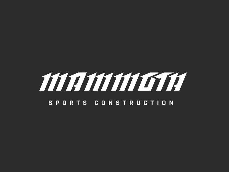 Mammoth Sports Construction Concept italic custom repetition tough branding concept turf construction sports mammoth custom type typography type logo logotype