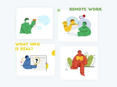 What can we do when stay at home? stay at home read rumor remote work covid-19 boy graphic art illustration character