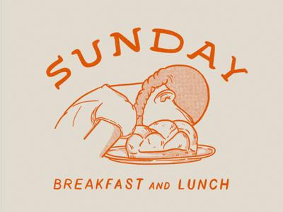 Sunday Bread Face procreate illustration sourdough bread sunday