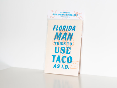 Florida Man Letterpress Postcard Series