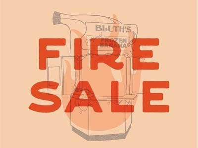 Business Card Fire Sale illustration fire sale were having a fire sale arrested development sale