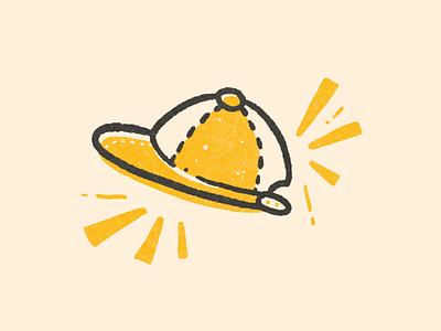 Baseball Cap cap baseball hat baseball black yellow texture illustrations illustration