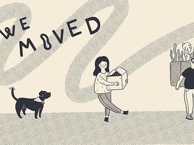 We Moved Illustration move illustration texutre moving
