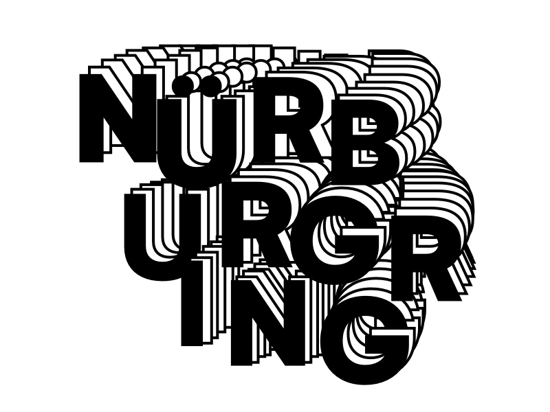Nürburgring Letterforms germany nürburgring graphic design typography letterforms