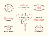 Badges for Knucklhed BBQ