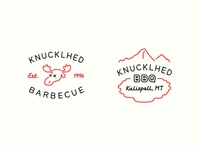 Knucklhed BBQ Logo and Wordmark Design