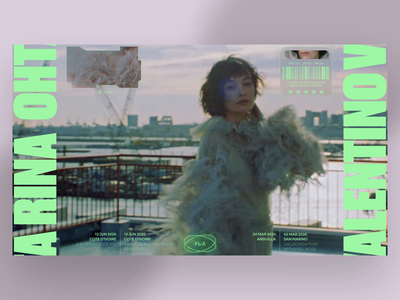 Rina minimal typography photo fashion slide book design news interface web