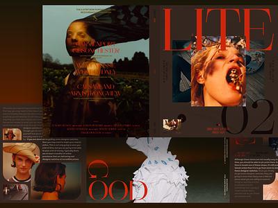 Lite typography minimal ui fashion slide book design news interface web