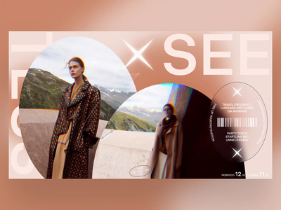 X SEE video photo minimal typography fashion slide book design news interface web