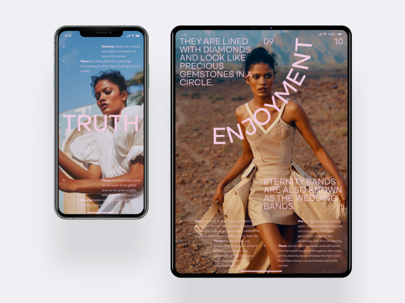 SEE Mobile ipad iphone app mobile slide typography minimal photo fashion book design news interface