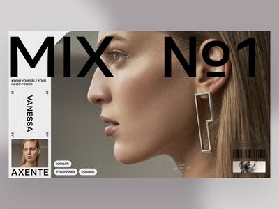 MIX №1 typography minimal photo fashion slide book design news web interface