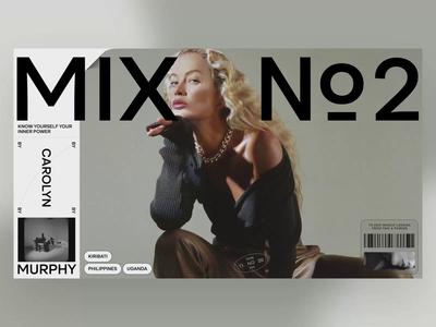 MIX animation video slide fashion book branding minimal typography design news web interface