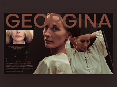 GEORGINA animation video minimal typography photo fashion slide book design news web interface