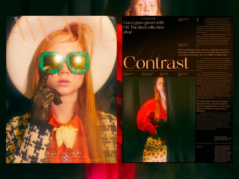 Awake typography minimal photo landing fashion book design news web interface