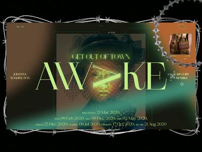 Awake 3d cinema 4d typography photo fashion slide book design news web interface