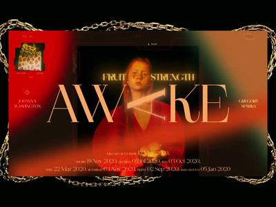 AWAKE cinema 4d 3d typography minimal photo fashion slide book design news web interface