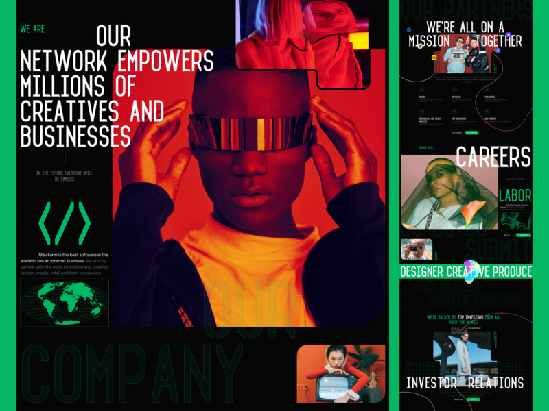 Mav Farm About typography photo fashion slide book design news web interface