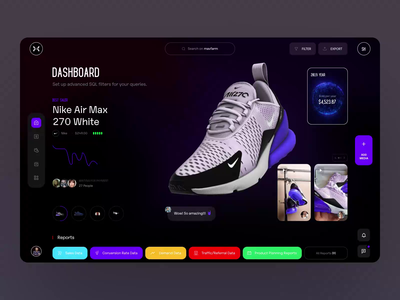 Main Page Dasshboard Mav.Farm dark landing cinema 4d 3d animation video sale clothes shoes grafik analytic dashboard typography photo fashion book design news web interface