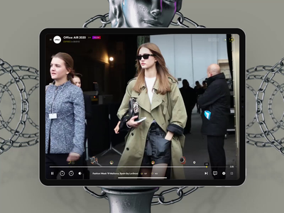 Video Moving streaming social gallery animation video 3d news minimal shopify shopping sale ipad design web interface