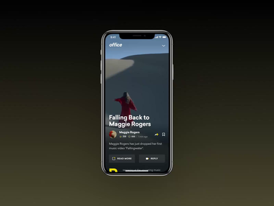 News iphone ios social media video animation social minimal typography photo fashion slide book design interface news