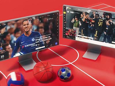 Sport imac analitycs football chat statistics macbook blender cinema 4d 3d iphone ios sportbook bookmaker dashboard sport design news web interface