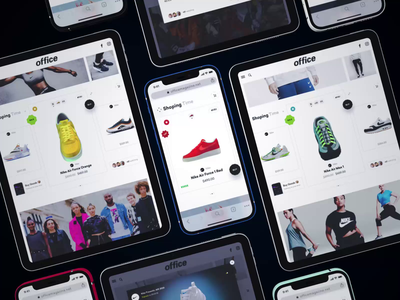 Office Shoping ai news magazine shop blender 3d nike sneakers shoping shopify app ios iphone mobile