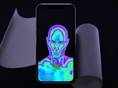 Presence ui cinema 4d 3d motion video mobile ios interface