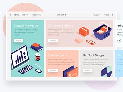 "Universitet ""Modules"" book flatstudio glossy interface main news online project redesign university"