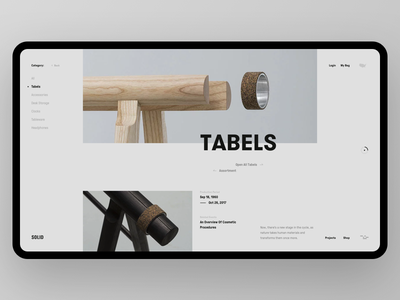 SOLID Tabels explore furniture solid minimal products web slider