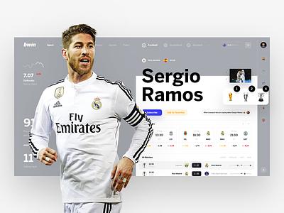 bwin Sergio Ramoooos dashboard profile football bets betting bookmaker sport team ronaldo world cup