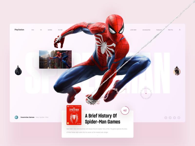 Spider-Man book web slide news interface marvel playstation ps4 game