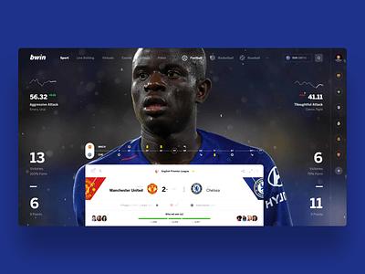 bwin Game slide football betting bet interface ui web sport