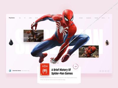 Spider-Man slide ui web news playstation marvel ps4 interface game spider-man
