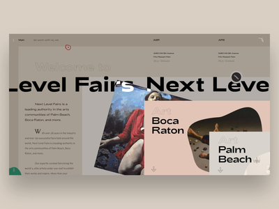 Next Level Fairs typography painting ui interface news web art galleries fair