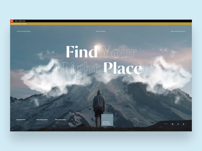 Special project for CNN Travel mountains travel blog special project travel typography news ui interface web