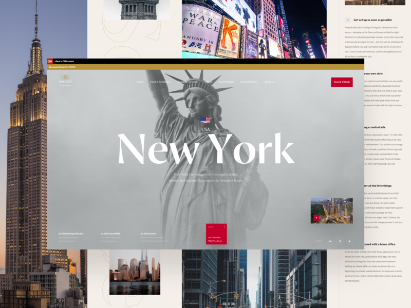 CNN New York Travel usa new york article typography ui travel design book news interface web