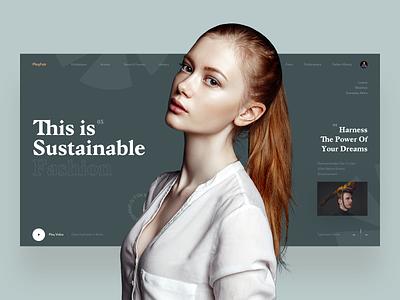 PlayFair photo fashion slide typography ui design book news interface web