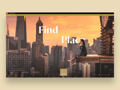 Find Your Right Place video typography slide ui photo design book news web interface