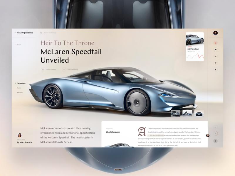 Open News sport formula 1 car ui fashion slide book design news interface web