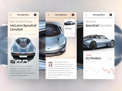 Open News sport car adaptation mobile ios slide design book news interface web