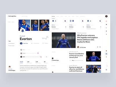 Everton match football sport slide design book news interface web