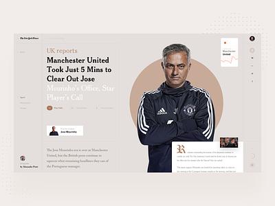 Open News minimal ui football sport photo slide design book news interface web